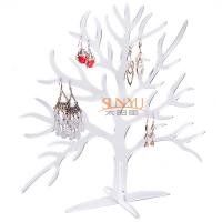 China Acrylic Display Stand Earring Jewelry Holder Countertop Holds10 Pairs Tree Shaped wholesale