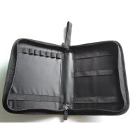 Quality PU Leather Zippered Travel Tool Bag With Multiple Elastic Binding Inside for sale