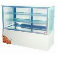 China 1.5 meter Vertical Chiller 660W , Cake Display Freezer 3 Shelf With Tough Glass wholesale