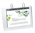 China 5mm OEM White Country Acrylic Calendar Holder / Plexiglass Desk Stand SGS wholesale