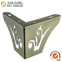 China 55mm high bronze furniture legs hollow out metal corner sofa legs SL-097 wholesale