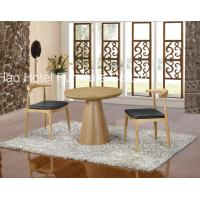 China Round Restaurant Hotel Dining Table Set Custom Made With Nature Wood wholesale