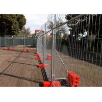 China Construction Site Temporary Cyclone Fencing With Q195 Iron Wire Materials wholesale