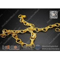 Buy cheap Golden Color Aluminum Chain for Fly Screen Curtain | HeslyMesh Factory from wholesalers