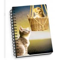 China Cartoon Pet Hardcover 3d Lenticular Notebook With Spiral Binding For Student Diary wholesale