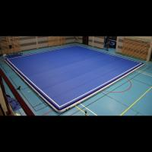 China Compact Blow Up Gymnastics Mat , Thick Gymnastics Tumble Track At Home wholesale