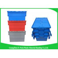 Quality Stackable Plastic Storage Containers With Attached Lids Heavy Duty for sale