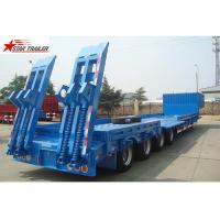 China 4 Axles Hidden Tires Pipe Transport Trailer Overheight Equipment Transporting on sale