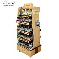 Buy cheap Food Movable Wood Display Stand Flooring Environmental With Caster from wholesalers