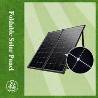 China High efficiency 120w mono-crystalline silicon foldable solar panel with solar panel mounting rack on sale