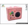 China Handbag Shaped Cardboard Food Packing Boxes Durable Handle CMYK Color Printing wholesale