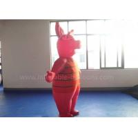 China 8ft Waterproof Inflatable Man Costume , Moving Red Inflatable Pig Mascot Costume wholesale