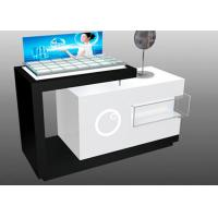 China Contemporary Style Makeup Counter Display / Cosmetic Display Showcase With Locks wholesale