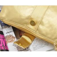 Quality PVC Bathroom Women's Toiletry Travel Bag Gold Color For Travel for sale