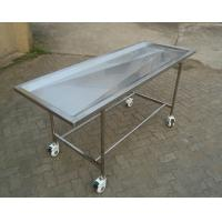 Quality Adjustable Mortuary Equipment Embalming Operating Autopsy Table of Stainless Steel for sale