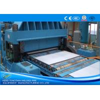 China Color Steel Cut To Length Line Machine Blue Colour Full Automatic PLC Control wholesale