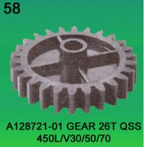 China A128721-01 GEAR TEETH-26 FOR NORITSU qsf450L,V30,V50,V100 minilab wholesale