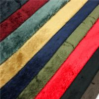 China Fashion Durable Velboa Soft Toy Fur Fabric 200gsm~250gsm 28s/32s Density wholesale