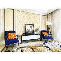 China Interior Room Classic Vintage Wallpaper Wet Embossing With Water Based Ink wholesale