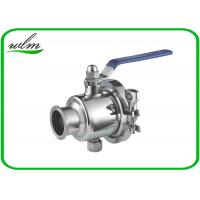 China Pharmaceutical Sanitary Ball Valves With Clamp Connection Ends , Diameter DN15-65 wholesale