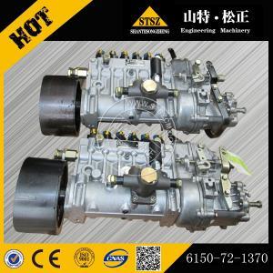 China Komatsu genuine bulldozer D65E-12 fuel injection pump 6150-72-1370 for engine 6D125E-2A wholesale