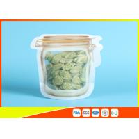 Buy cheap Household Reusable Stand Up Ziplock Bags Food Can Shaped Plastic Packaging Bag / Mason Jar from wholesalers