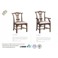 China Hand Carved Side Modern Dining Room Chairs Serpentine Pierced Vase Splat wholesale