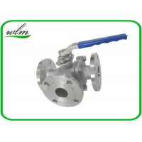 Quality SS304 316L Stainless Steel Sanitary Manual Three Way Ball Valves for Hygienic Pipeline Applications for sale