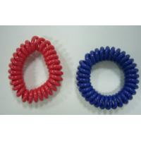 China Mini wrist coil plastic spring coil ring cord customized color hot sales red blue wrists wholesale