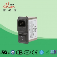 China Yanbixin 3A EMI Power Line Filter With Single Fuse Holder Compact Design wholesale