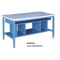 China Multi Purpose Industrial Work Benches Lower Shelf Kit For Divider Space 60 Inch Wide wholesale