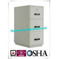 Metal Locking Fireproof File Cabinet Three Drawer 1 Hour Fire Rating