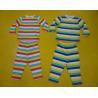China Comfy Multi Striped Kids Pajama Sets , Toddler Boys Winter Pajamas Private Label wholesale