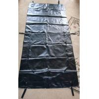 China Webbing Strap Handle PVC or PEVA black Body Bags Heavy Duty Transport 12-20Mil wholesale