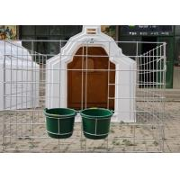 China Well Ventilated Calf Hutches With Wide Fence , Draught Free Calf Shelters wholesale