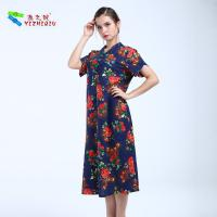Quality YIZHIQIU Fitted Straight Line Flower Printing Dress for sale