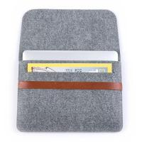 China Factory Price 11inch 13inch Felt Laptop Sleeve Bag Lightweight Leather Bags for Macbook pro air.A4 size. wholesale