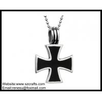 China Low price of Metal Cross painting key chain wholesale