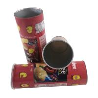 China Canning Fish Telescopic Food Grade Tube Packaging / Paper Cylinder Packaging wholesale