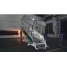 China Anti Steep Aircraft Passenger Stairs 15000 Millimeter Turning Radius Easy Moving wholesale