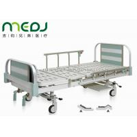 China Manual Control Mechanical Hospital Bed MJSD05-06 Two Crank Aluminum Alloy Board wholesale