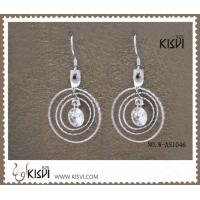 China Sterling silver hoop silver gemstone earrings with competitive price W-AS1046 wholesale