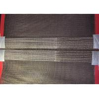 China Fiberglass Wire Mesh Teflon Conveyor Belts For Oven With Red Wedge And Joint wholesale
