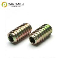 China Furniture Accessory Zinc Plated Fastening Metal Screw tooth nut wholesale