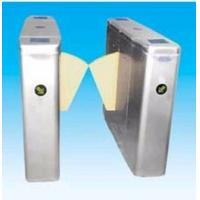 China Security gate flap barrier with arms auto lock, self examine and alarm function wholesale