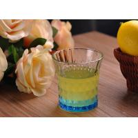China Colored Embossed Whiskey Glass Cups , Recycled Glasses Tumblers for Water wholesale