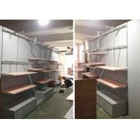 China Lady Retail Clothing Store Shelves With Wooden Stainless Steel Material wholesale