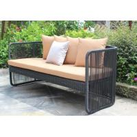 China 3-piece 2016 New designs black round rattan wicker hotel luxuary sofa set-YS5749 wholesale
