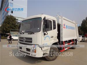 China Dongfeng Tianjin DFAC 14-16cbm Garbage Compactor Truck Compressed Garbage Trucks wholesale