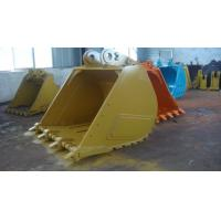 China Caterpillar excavator bucket standard bucket and rock bucket with volum 0.9 cbm to 5 cbm with different color for choose on sale